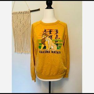 Disney Lion King Sweater size small Hakuna Matata